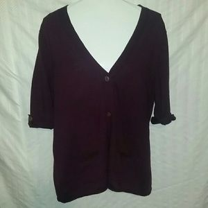 NWOT Summer Cardigan w Wood Buttons